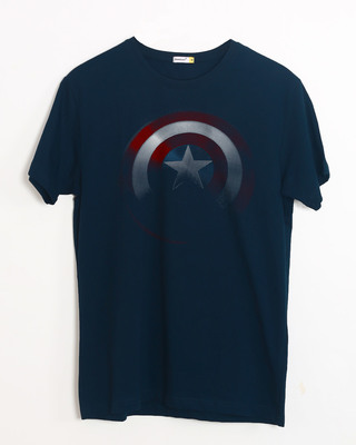 Shop Captain America Shadows Half Sleeve T-Shirt (AVL)-Front