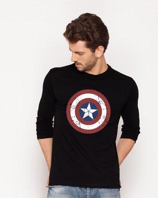 Buy Captain America Shield Full Sleeve T-Shirt (CA) Online India @ Bewakoof.com