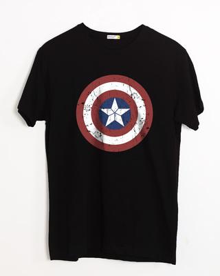 Buy Captain America Shield Half Sleeve T-Shirt (CA) Online India @ Bewakoof.com