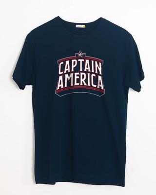 Buy Captain America Typo Half Sleeve T-Shirt (AVL) Online India @ Bewakoof.com