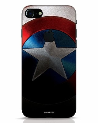 Shop Captain iPhone 7 Logo Cut Mobile Cover-Front