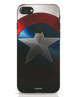 Shop Captain iPhone 7 Logo Cut Mobile Cover-Front