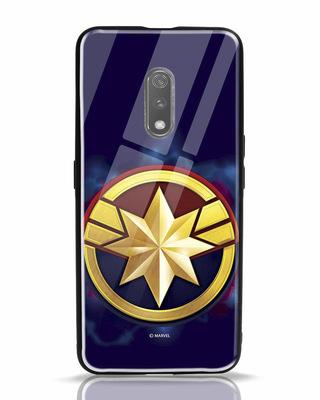 Shop Captain Marvel Logo Realme X Mobile Cover (AVEGL)-Front