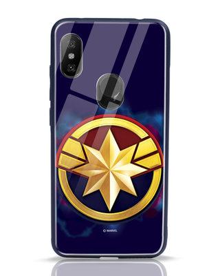 Shop Captain Marvel Logo Xiaomi Redmi Note 6 Pro Mobile Cover (AVEGL)-Front