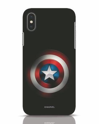 Shop Captain's Shield iPhone X Mobile Cover (AVL)-Front