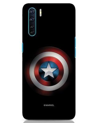 Shop Captain's Shield Oppo F15 Mobile Cover (AVL)-Front