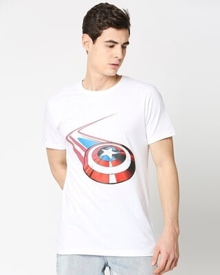Shop Captain Shield Half Sleeves T-Shirt-Front