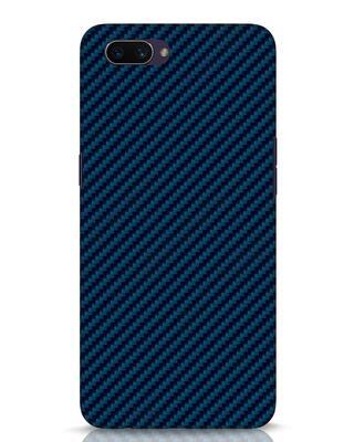 Shop Carbon Fiber Oppo A3S Mobile Cover-Front
