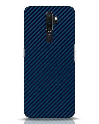 Shop Carbon Fiber Oppo A5 2020 Mobile Cover-Front
