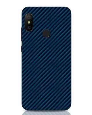 Shop Carbon Fiber Xiaomi Redmi Note 6 Pro Mobile Cover-Front
