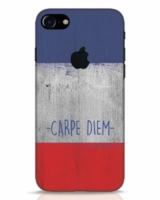Shop Carpe Diem iPhone 7 Logo Cut Mobile Cover-Front