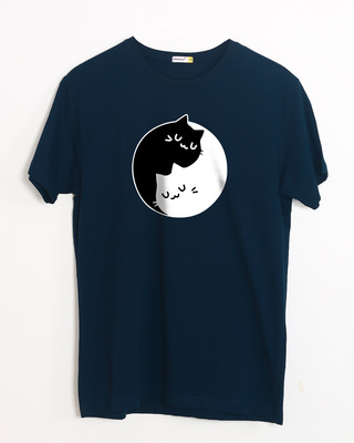 Buy Cat Yin Yang Half Sleeve T-Shirt Online India @ Bewakoof.com