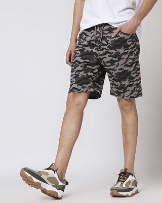 Shop Catalytic Black Camo Fleece Short-Front
