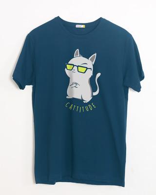 Buy Catittude Half Sleeve T-Shirt Online India @ Bewakoof.com