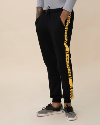 Shop Caution Fleece Sports Trim Joggers-Front