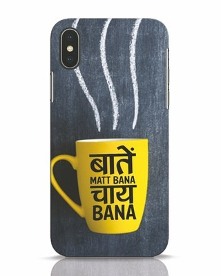 Shop Chai iPhone X Mobile Cover-Front