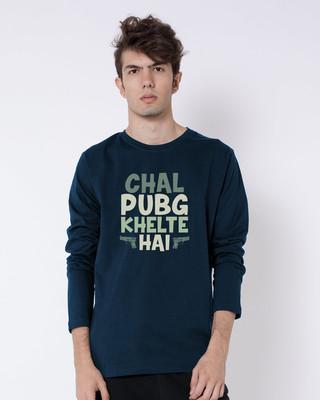 Shop Chal Pubg Khelte Hai Full Sleeve T-Shirt-Front