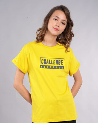 Shop Challenge Accepted By Me Boyfriend T-Shirt-Front