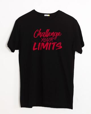 Buy Challenge Your Limits Half Sleeve T-Shirt Online India @ Bewakoof.com