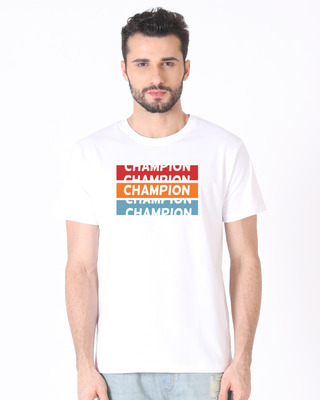 Shop Champion Repeat Half Sleeve T-Shirt-Front