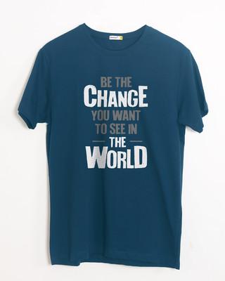 Buy Change The World Half Sleeve T-Shirt Online India @ Bewakoof.com