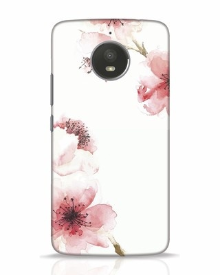 Shop Cherry Blossoms Moto E4 Plus Mobile Cover-Front