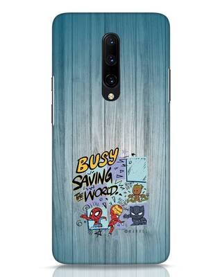Shop Chibi Avengers OnePlus 7 Pro Mobile Cover (AVL)-Front