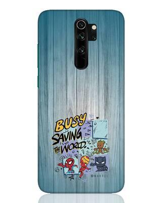 Shop Chibi Avengers Xiaomi Redmi Note 8 Pro Mobile Cover (AVL)-Front