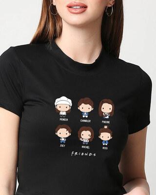 Shop Chibi Friends (FRL) Women's Printed Snug Blouse-Front