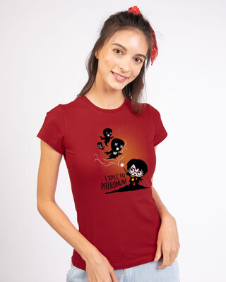 Shop Chibi Harry Half Sleeve T-Shirt (HPL)-Front