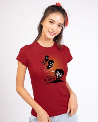 Shop Chibi Harry Half Sleeve T-Shirt (HPL)-Front