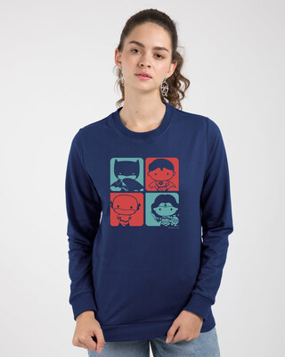 Shop Chibi Justice Fleece Sweaters (DCL)-Front