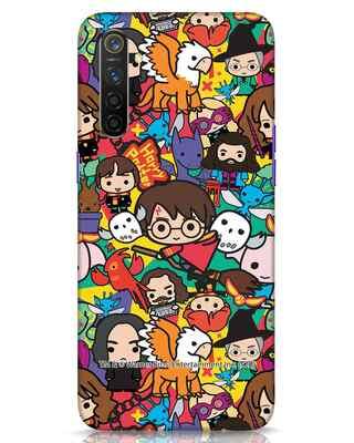 Shop Chibi Mix Potter Realme 6 Mobile Cover (HP)-Front