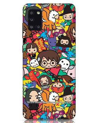 Shop Chibi Mix Potter Samsung Galaxy A31 Mobile Cover (HP)-Front