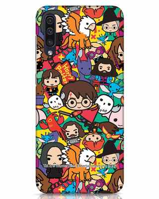 Shop Chibi Mix Potter Samsung Galaxy A50 Mobile Cover (HP)-Front