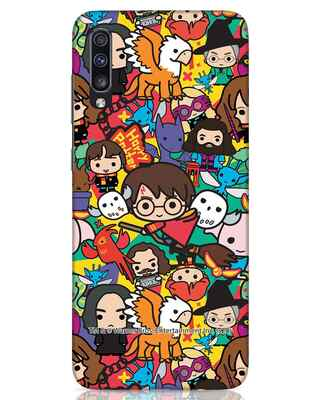 Shop Chibi Mix Potter Samsung Galaxy A70 Mobile Cover (HP)-Front
