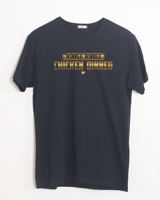 Shop Chicken Dinner Half Sleeve T-Shirt-Front