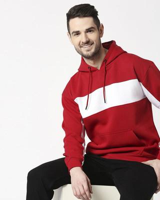Shop Chili Pepper Chest Panel Hoodie Sweatshirt-Front