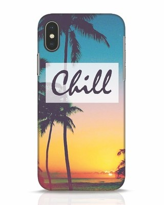 Shop Chill Beach iPhone X Mobile Cover-Front