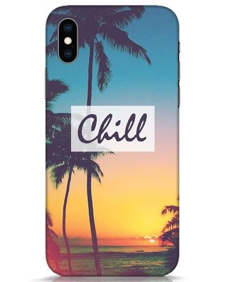 Shop Chill Beach iPhone XS Mobile Cover-Front