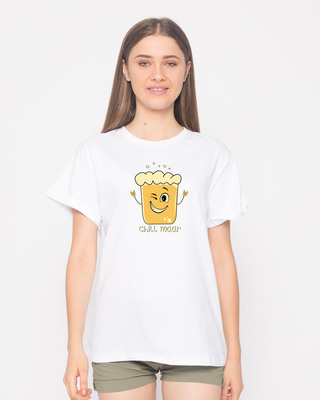 Shop Chill Maar Boyfriend T-Shirt-Front