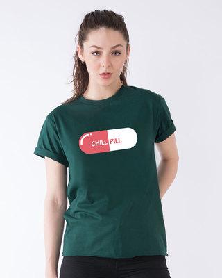 Shop Chill Pill Boyfriend T-Shirt-Front