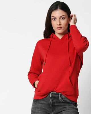 Shop Chilli Pepper Basic Hoodie Sweatshirt-Front