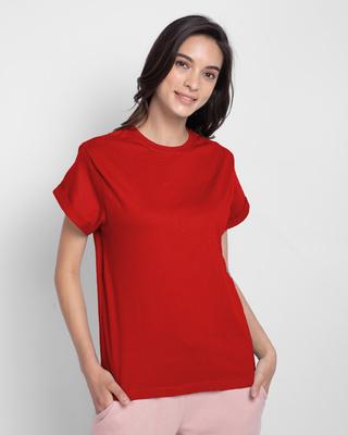 Shop Chilli Pepper Boyfriend T-Shirts-Front