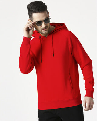 Shop Chilli Pepper Stylised Panel Hoodie SweatShirt-Front