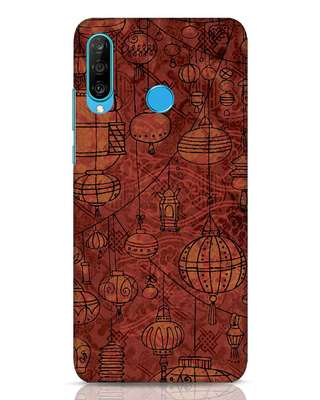 Shop Chinese Lanterns Huawei P30 Lite Mobile Cover-Front