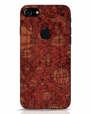 Shop Chinese Lanterns iPhone 7 Logo Cut Mobile Cover-Front