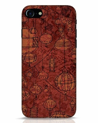 Shop Chinese Lanterns iPhone 8 Mobile Cover-Front