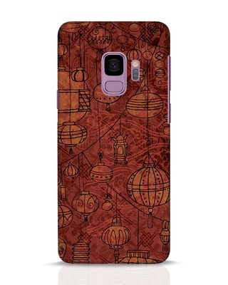 Shop Chinese Lanterns Samsung Galaxy S9 Mobile Cover-Front