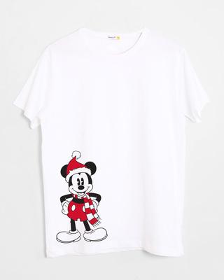 Shop Christmas Mickey Half Sleeve T-Shirt (DL)-Front